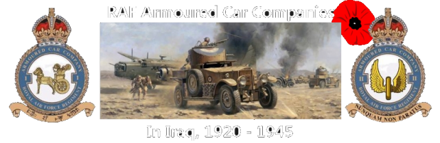 RAF Armoured Car Companies in Iraq